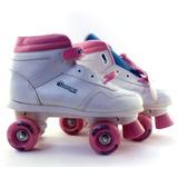 Patins Chicago Skates 4 Rodas Branco E Rosa Numero 35 B6296