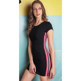 Vestido Corto Negro Tipo Gucci 94063 Listón Tallas Ch - Xg