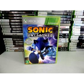 Jogo Sonic Unleashed Xbox 360 Original Mídia Física Usado