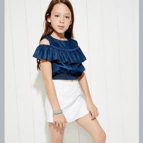 Conjunto Pink Para Niña Blusa + Falda Short 820555 Kids 19c