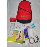 Mochila Con Kit Básico De Emergencia, 64 Art. Esenciales