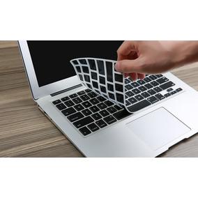 Protetor De Silicone Teclado Macbook Preto Pro Air 13 15 17