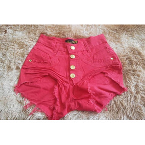 Shorts Jeans Hot Pants Enrugado Curto Moda Instagram Barato