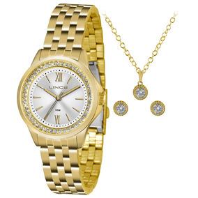be52c4dcc98 Relogio Lince Feminino Dourado Strass - Relógio Lince Feminino no ...