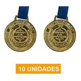 Kit 10 Medalhas Fita Ouro Futebol Volei Artes Marciais -50mm