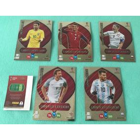 5 Cards Xxl Copa 2018 Limited Edition Neymar Messi Cr7 Lewa