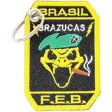 3ce953d5bf Chaveiro Bordado Brasil 2 Guerra Mundial Cobra Feb Brazucas