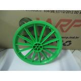 Par De Rodas Aro 16 Nylon 14 Palitos Verde Para Bicicleta.