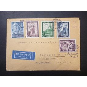 Áustria Env. 1 Circulado Série Selos 1947 - L - 3574
