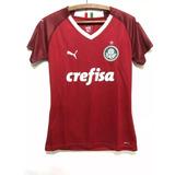 Camisa Feminina Palmeiras Verde Ou Vermelha Puma Promoção