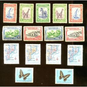 Moçambique Fauna Zebra Girafa 1937 Veja + Selos Clássicos