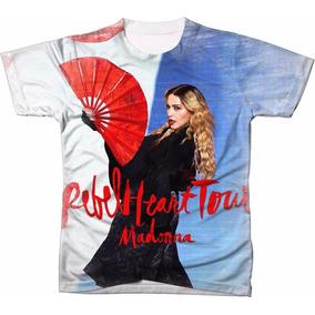 Camisa Camiseta Personalizada Madonna Rebel Heart Tour 03 6fb7dfe3c7c70