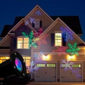 Projetor Espeto Laser Luz Natal Neve Casa Jardim Iluminação