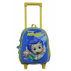 Mochila Escolar Kinder Con Carro Bubble Guppies Mod. 8543