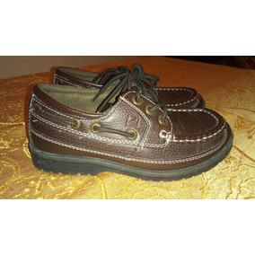 Zapatos De Cuero Tipo Mocasín Marca Sperry Niño Junior 2.5m 75a47b5f6b05
