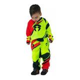 Conjunto Moto Cross Rpmcross Niños Bsx 2018 Solomototeam