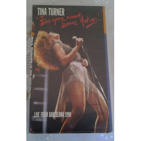 Fita Vhs Tina Turner Live From Barcelona 1990 Show