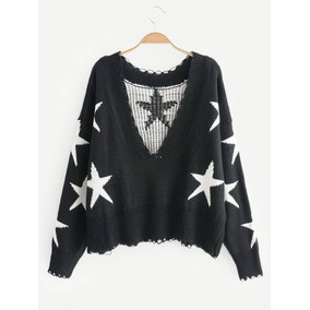 Suéter Con Estrella Ribete De Canalé