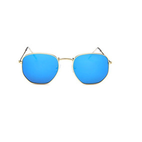 5e1a30d37b635 Oculos Round Azul Vintage De Sol - Óculos De Sol no Mercado Livre Brasil