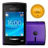 Sony Yendo W150i 5mb 2mp 2.2 Mp3 Fm Preto E Roxo Vitrine 2