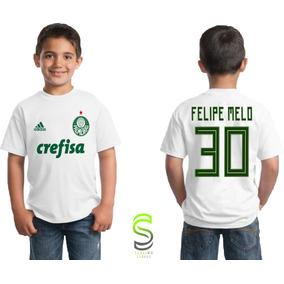 Camiseteria Na Net - Camisetas Faculdade · Camisa Camiseta Infantil  Palmeiras Felipe Melo Personalizada 6972bf6d3c1c9