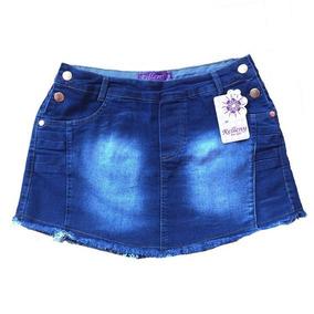 Short Saia Jeans Plus Size