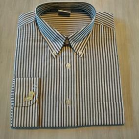6a67ccafc21de Camisa Negra Rayas Blancas Manga Larga L Eighth Avenue Eeuu - Ropa y ...