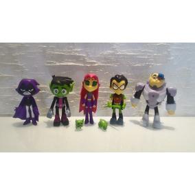 Jovens Titãs Starfire Cyborg Robin Mutano Ravena Teen Titans