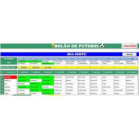 Planilha Automática Para Bolão De Futebol (excel)