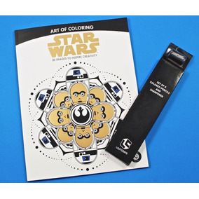 Livro De Colorir Star Wars Com Kit Lapis Exclusivo Lootcrate