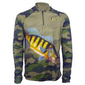 02 Camisa De Pesca Proteção Uv 50 + Com Nome Personalizada.
