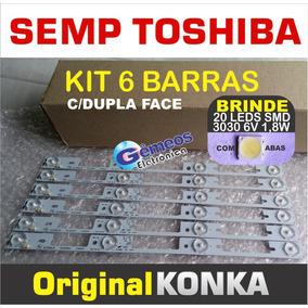 Kit 6 Barras Led 40l2400 40l5400 Dl4045 Toshiba Konka
