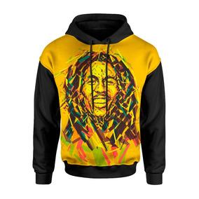 Moletom Canguru 3d Full Unissex Roupa Bob Marley Swag Reggae cb0ecb92138