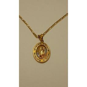2ca17c81951 Medalla Virgen De Guadalupe Oro Con Cristales Y Cadena Envio