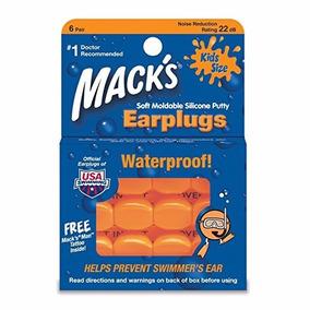 Protetor Auricular Natação Macks - Moldável Kids - 6 Pares