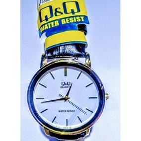459e1a7dd99 Relógio Q Q Pulseira De Couro - Joias e Relógios no Mercado Livre Brasil