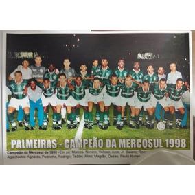 Poster Do Palmeiras - Campeão Da Mercosul De 1998