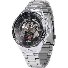Reloj Automático Mecánico Winner Skeleton Sport Cajametalica