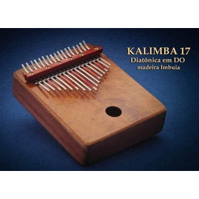 Kalimba Instrumento Africano Profissional 17 Hastes