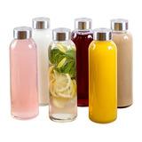 Estilo, Botellas De Vidrio Para Agua De 18 Oz, Tapa De Acer