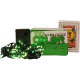 Luz Arroz X 100 Verde Con Varios Efectos En Caja