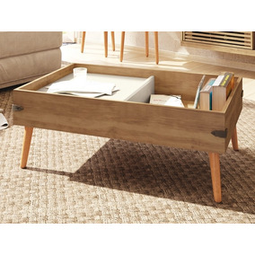 Mesa De Centro Pe Natural Iron Buriti/off-white - Líder Desi