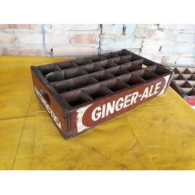 Engradado De Madeira Antigo Original Antarctica Ginger Ale