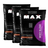 Combo 3x Whey Blend 2kg Cada - Max Titanium - Promoção