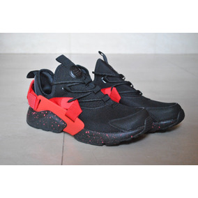 best sneakers 58864 587c9 Kp3 Zapatos Caballeros Nike Air Huarache City Negro Rojo