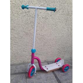 Monopatín Scooters De Metal Original Barbie 3 Ruedas Usado