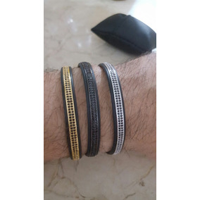 Bracelete Oro Plata Brillantes Pulsera