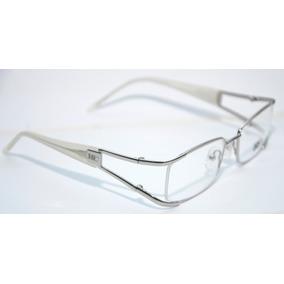 59854840fb0c1 Armação Óculos Feminino Donna Carrara Branco Metal Quadrada