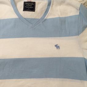 Camisa Abercrombie Masc Tam S -listrada Azul/bco - Promoção