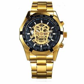 9e3d1465e538 Elegante Reloj Winner Skeleton Dorado - Relojes en Mercado Libre México